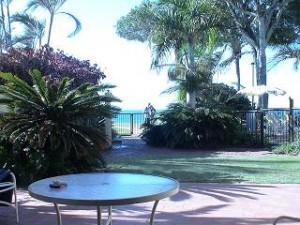 窓から眺める景色が、絵ハガキの様。そのままビーチにもプールにも行けます。
