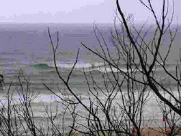 サンシャインビーチの波